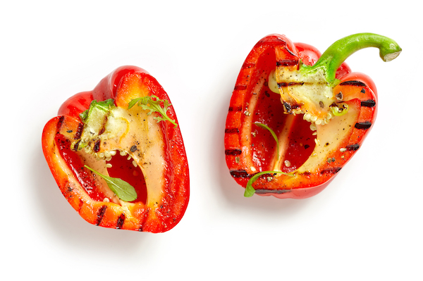 low-carb-bun-substitutes-grilled-peppers