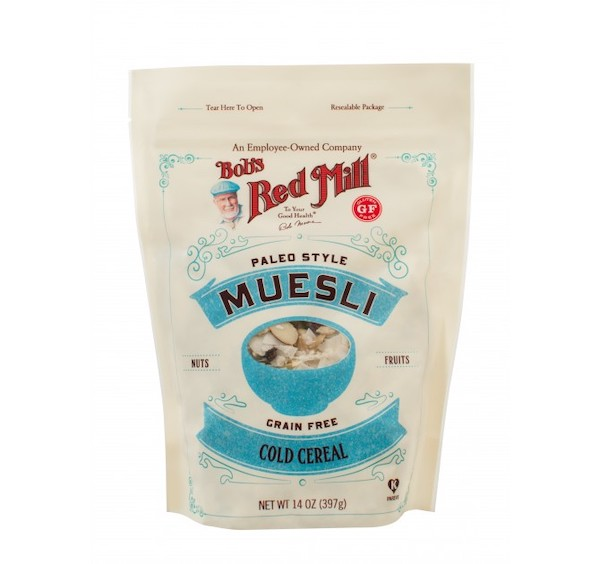 paleo cereals- bobs red mill muesli