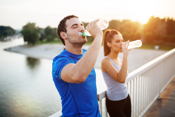 dizzy during workout- people drinking water