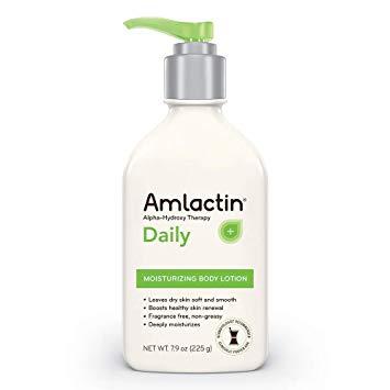 bottle of AmLactin's moisturizing lotion for calluses