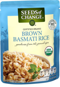 bag of Brown Basmati Rice from Seeds of Change