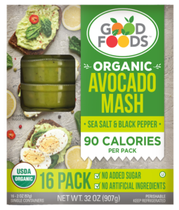pack of avocado mash from Good Foods