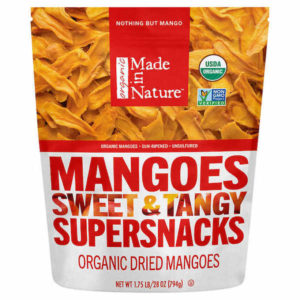 bag of organic dried mangos from Made in Nature