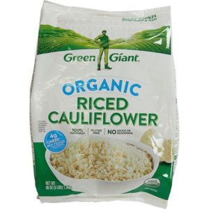 bag of organic riced cauliflower from Green Giant