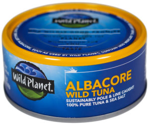 can of Albacore wild tuna from Wild Planet