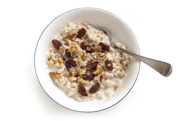 How To Eat More Protein - oatmeal in bowl