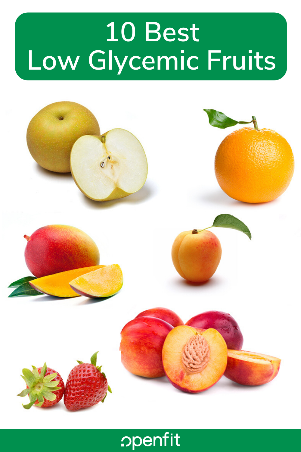 low glycemic fruits - pin image