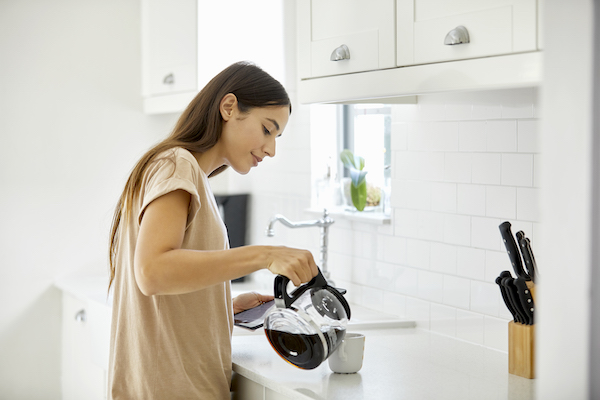 become a morning person- making coffee