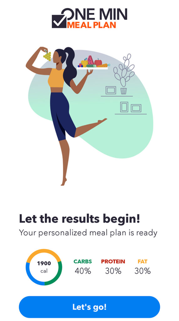 openfit nutrition - one minute meal plan
