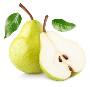Fruit for weight loss pear cut in half