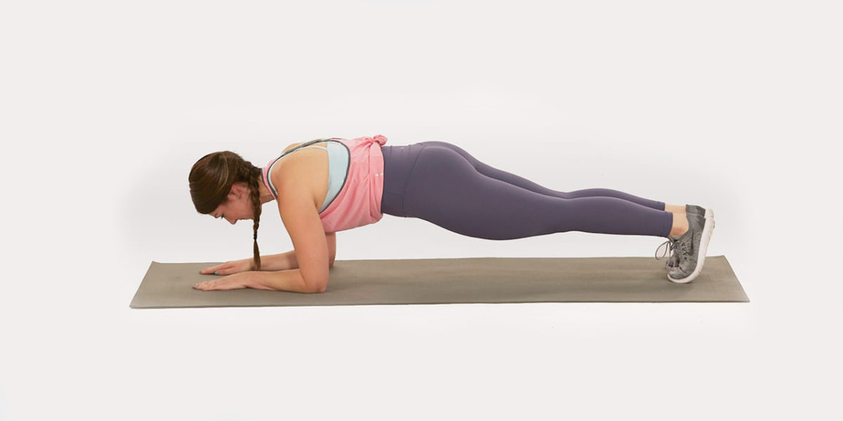 bodyweight exercises for chest - forearm plank