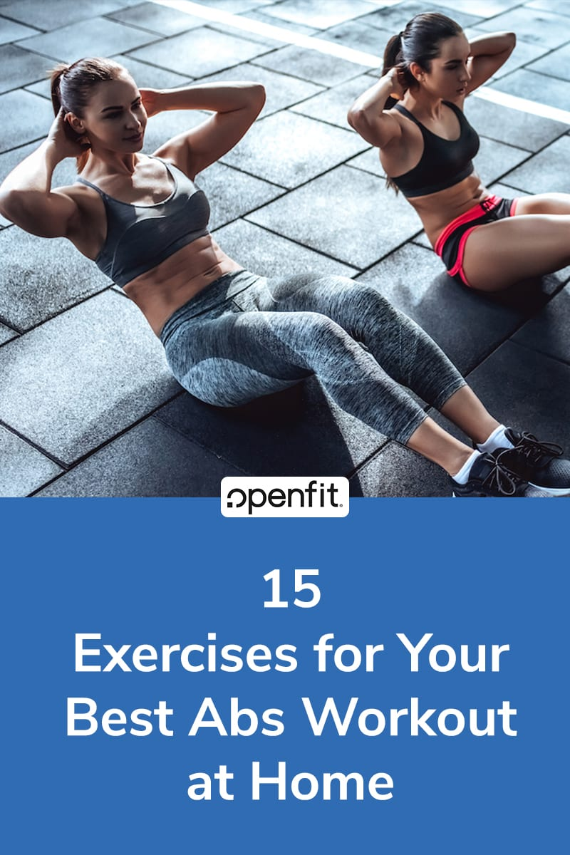 ab exercises at home pin image
