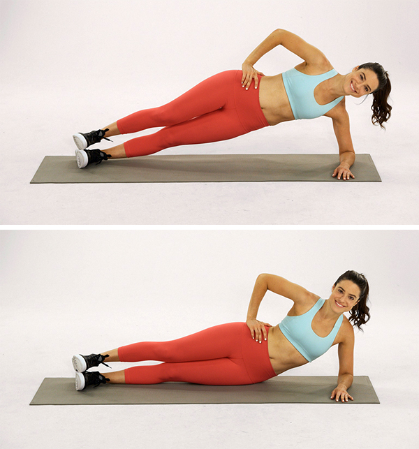 Pilates exercises-hip dip