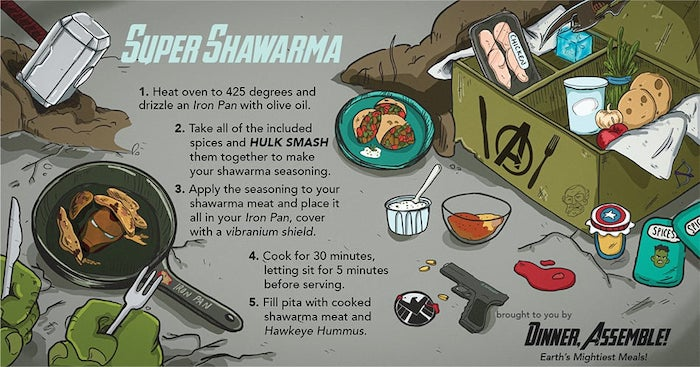 Fictional Meal Preps - Avengers