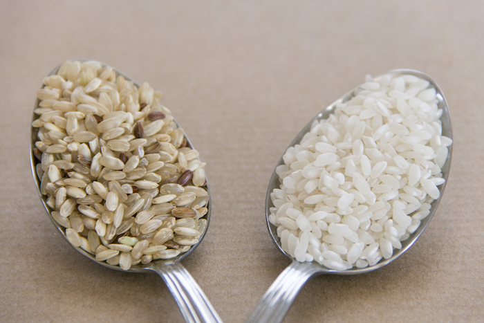 good vs bad carbs- white and brown rice