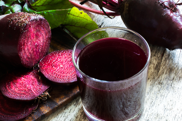 beetroot juice- juice in glass