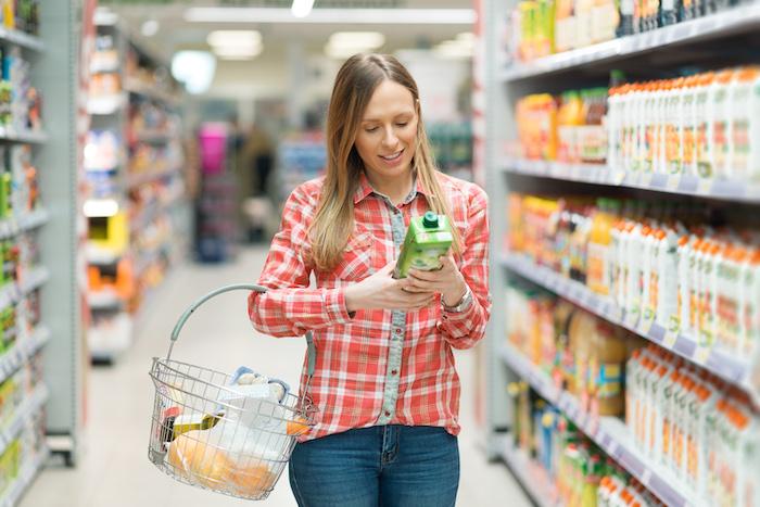 natural flavors- woman shopping
