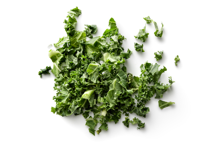 benefits of kale- chopped kale