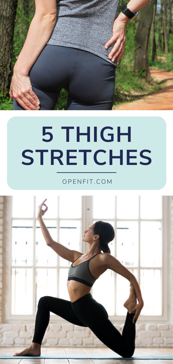 thigh stretches