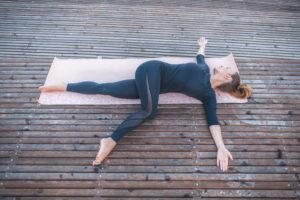 spinal twist -- leg stretches