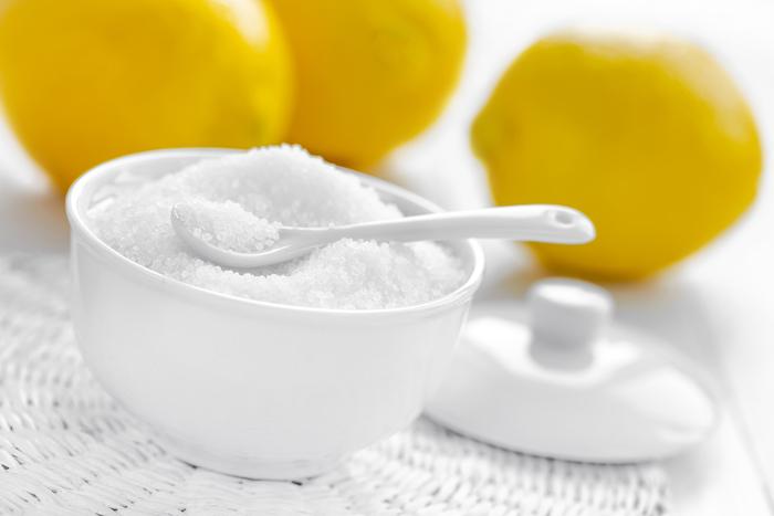 Citric acid in bowl