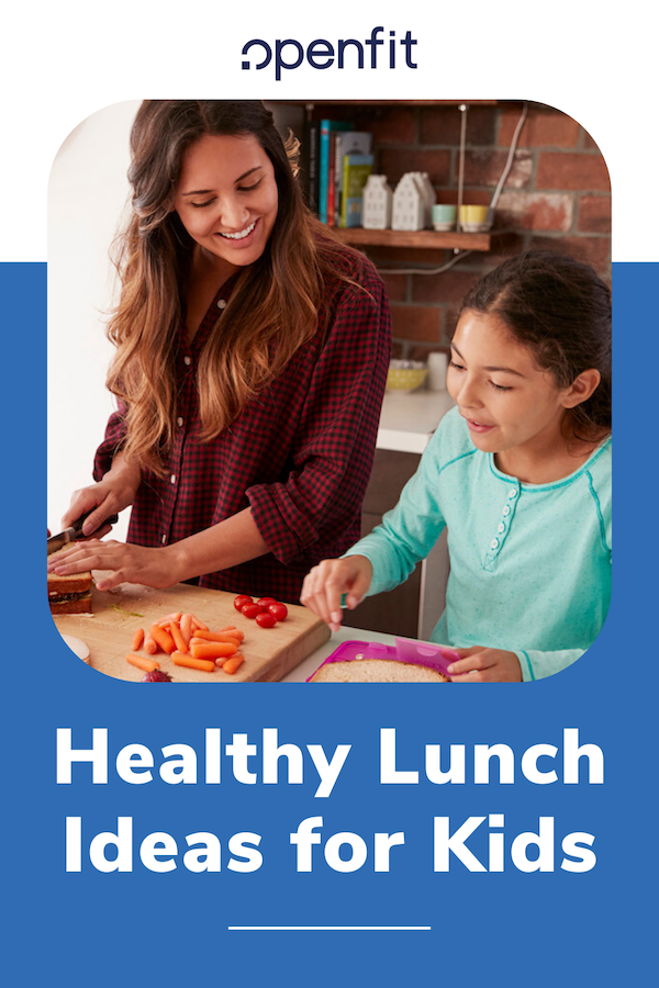 healthy lunch ideas for kids pin