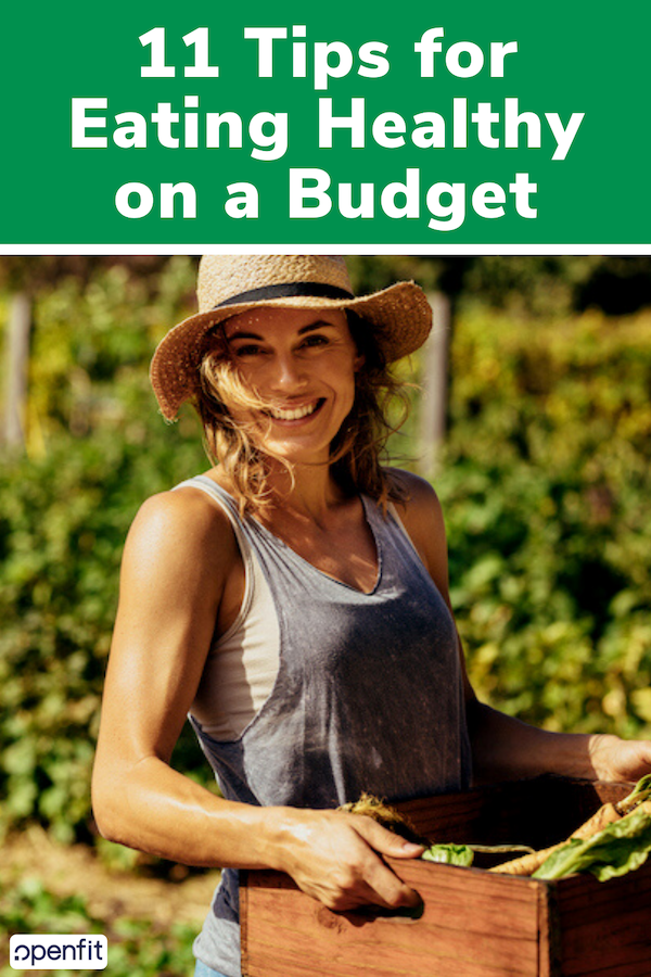 eat healthy on a budget pin