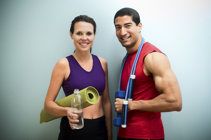 fitness couple costume- fitness halloween costumes