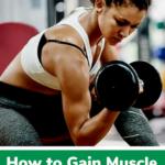 vegan muscle building pin