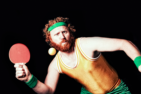 renaissance style picture of ping pong player | fitness inspired halloween costumes