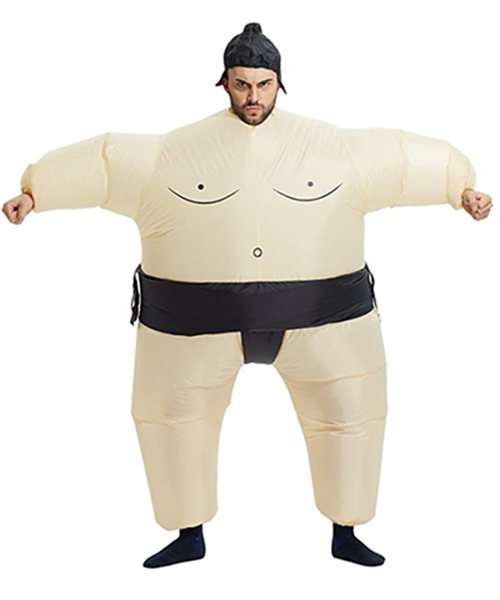 man in inflatable sumo suit | fitness inspired halloween costumes