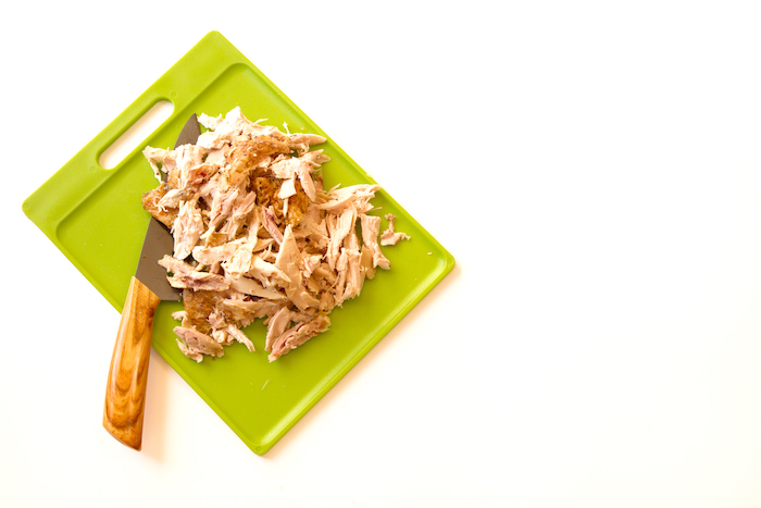 shredded chicken- how to meal prep chicken