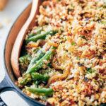 healthier green bean casserole- process shot