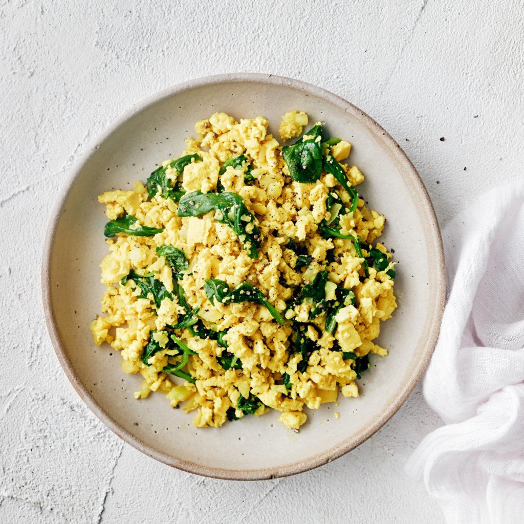 healthy breakfast ideas - vegan tofu scramble