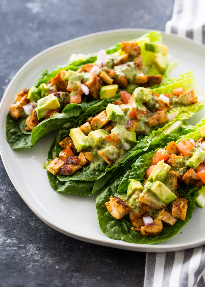 chicken lettuce tacos- low carb meal prep