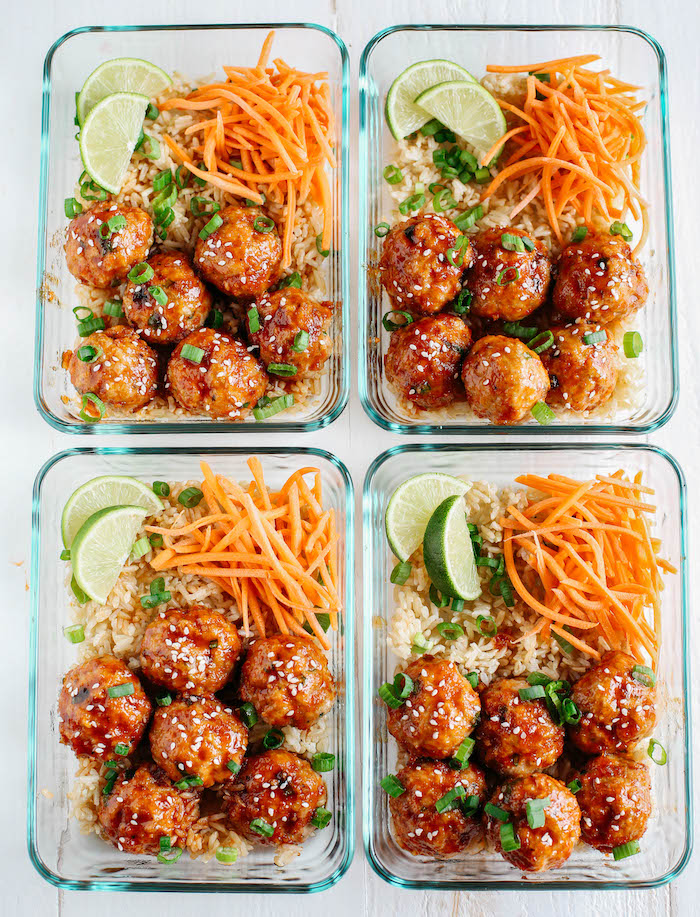 siracha meatball- low carb meal prep
