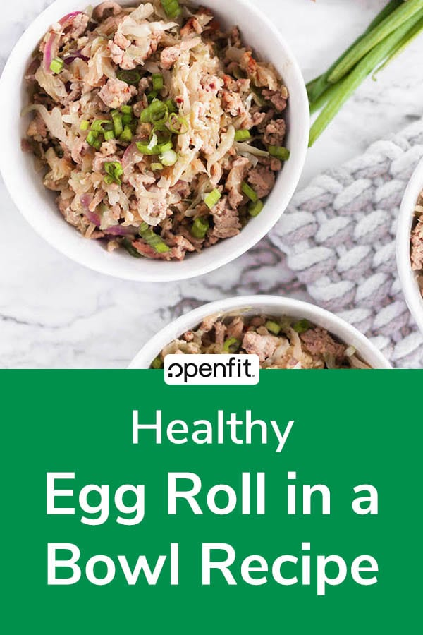 egg roll in a bowl - pin image