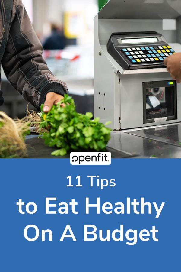 healthy on a budget - pin image
