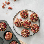 cranberry pecan oatmeal cups- plated