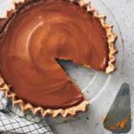 Vegan Pumpkin Pie-overhead shot