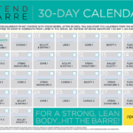 Xtend Barre 30 Day Calendar