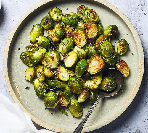 roasted brussels sprouts | plant based thanksgiving recipes