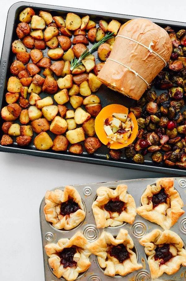 plant based thanksgiving- stuffed butternut squash