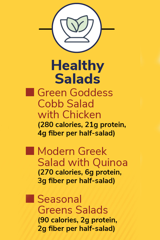 healthy options at panera- salads