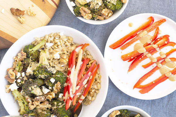 grain bowl- broccoli barley bowl