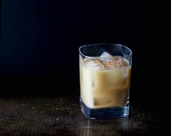 healthier holiday cocktails- bourbon milk punch