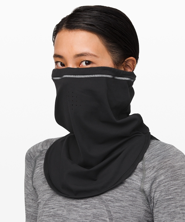 cold weather running gear- lululemon neckwarmer