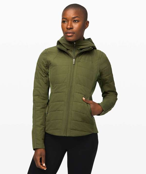 cold weather running gear- lululemon jacket