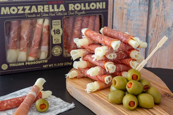 low carb foods- mozzarella rolls