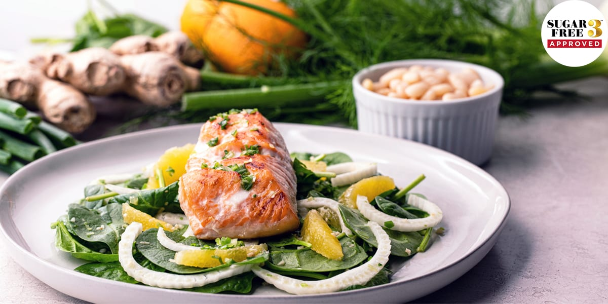Sesame Salmon with Fennel and Orange